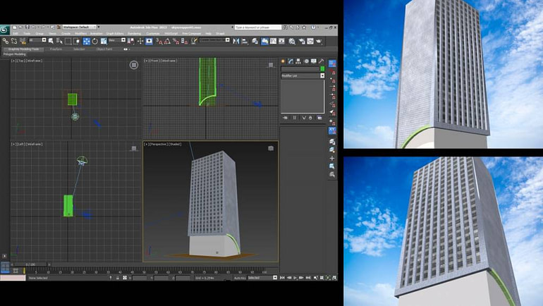 New exclusive skyscraper for Caprica City