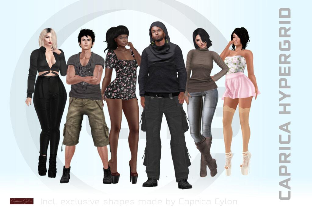 Caprica HyperGrid new starter avatars